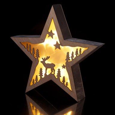 Ster met verlichting rendier - Leni Webshop
