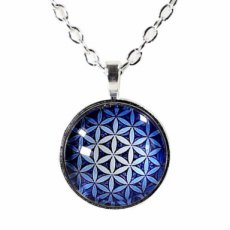 Flower of Life hanger blauw
